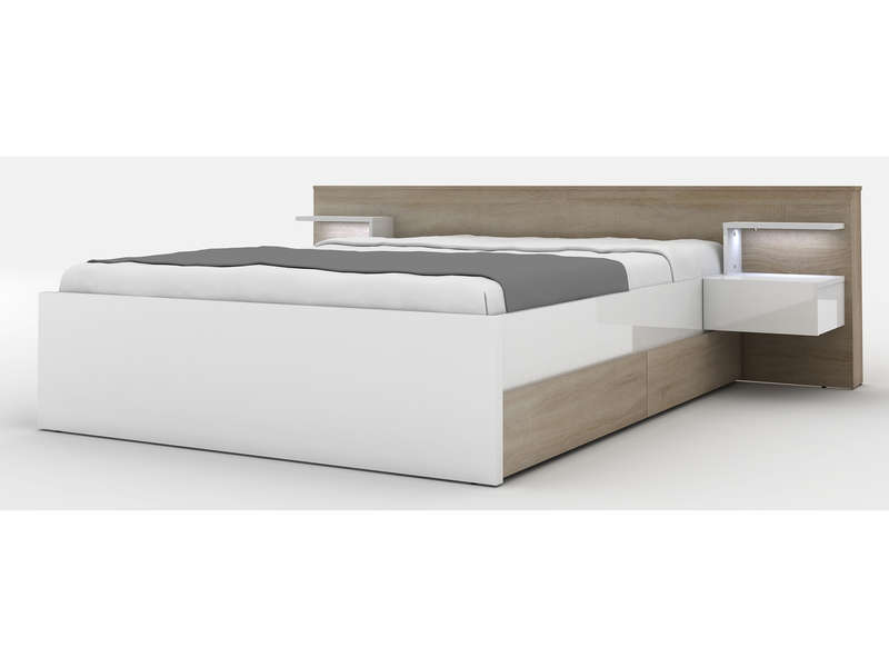 Lit Conforama 160x200 Lit X Cm Chest Coloris Chne Bross Vente De Lit Adulte Conforama With Lit