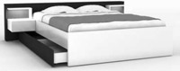 Lit Lano Blanc 160x200 cm