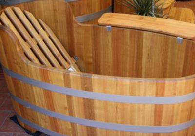baignoir en bois